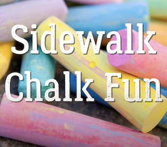 Sidewalk Chalk with Ms. Shirely